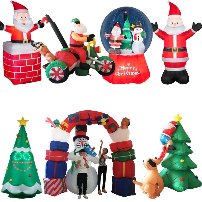 2021 LED الهواء نفخ سانتا كلوز ثلج الأيائل في الهواء الطلق حديقة إيرمهب السنة الجديدة هدية تزيين عيد الميلاد للأطفال ألعاب أطفال
