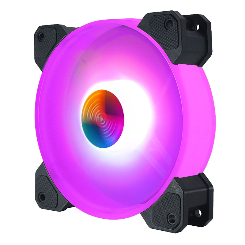 Coolmoon Computer Chassis PC Fan AURA SYNC Support Adjust RGB Cooling Fan 120mm Quiet Control Computer Cooling RGB Case Fans enlarge