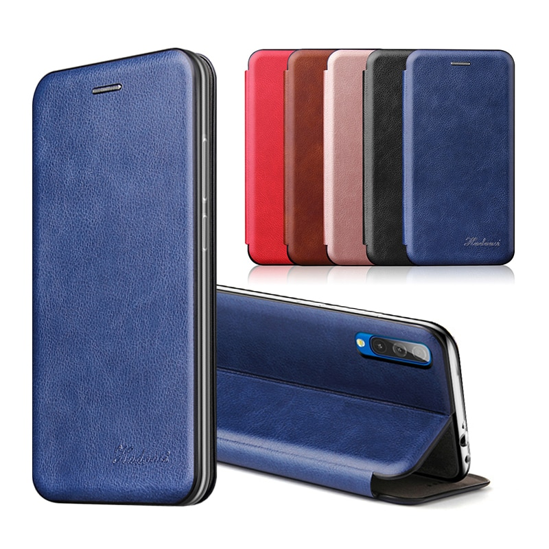 leather flip phone case For samsung a10 a20 a30 a40 a50 a70 2019 sumsung s10 s8 s9 s7 note 8 9 10 pl
