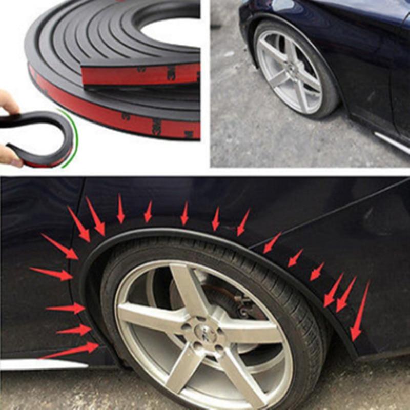 Suave guardabarros de coche Flare extensión rueda ceja Protector labio rueda-Arco Trim rueda Arco de la ceja tira decorativa neumáticos de coche