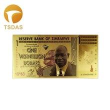 Zimbabwe Gold Banknotes One Vigintillion Dollars Fake Money As Business Gift