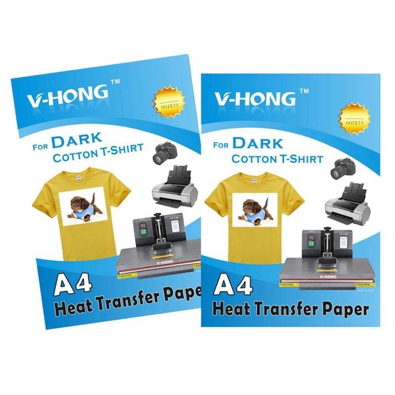 Высококачественная бумага формата А4, хлопковая одежда, Термотрансферная бумага, футболка, темная одежда, железная трансферная печать, субл...