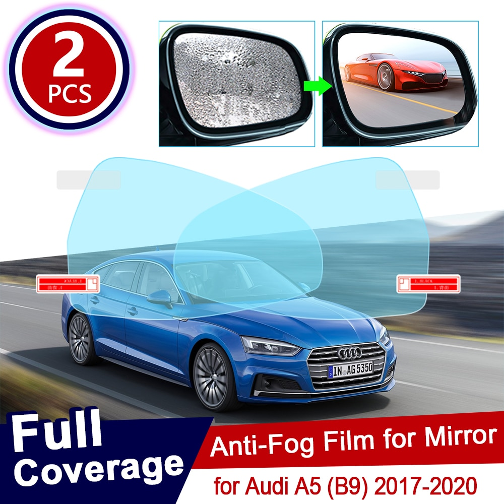 Para Audi A5 B9 2017 ~ 2020, película completa antiniebla, película de espejo retrovisor, películas antivaho transparentes a prueba de lluvia, accesorios para coche 2018 2019