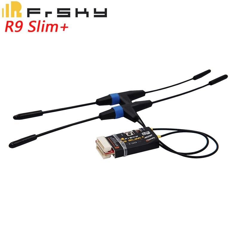 100% Original FrSky R9 Delgado + más receptor SBUS con antenas T FCC 6/16CH 900-930 piezas de Dron cuadricóptero a MHz ACCST para RC