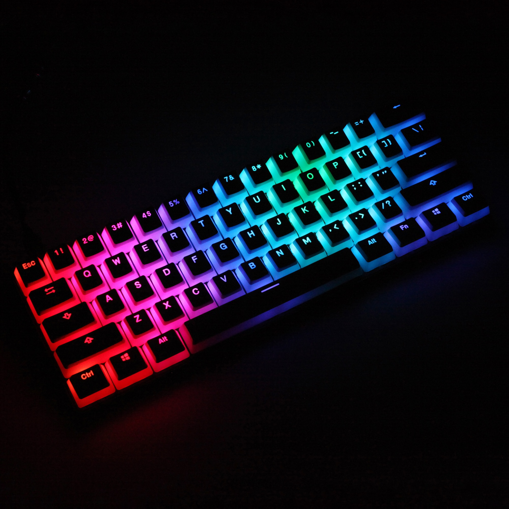 Pudding-لوحة مفاتيح ميكانيكية pbt V2 ، مع إضاءة خلفية مزدوجة ، oem ، للوحة المفاتيح البيضاء gh60 poker 87 tkl 104 108 ansi iso xd64 xd68 bm60