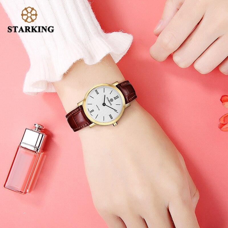 STARKING 6MM Slim Sapphire Women Watch Stainless Steel Japan Quartz Movt Fashion Vintage Ladies Wrist Watches Relogio Feminino enlarge