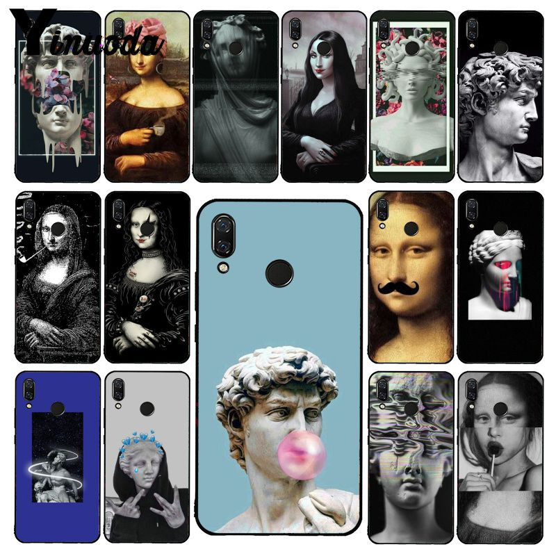 Yinuoda Mona Lisa Art David lines  Phone Case for Xiaomi Redmi Note 7 8T Redmi 5plus 6A Note4 4X A2 A2lite