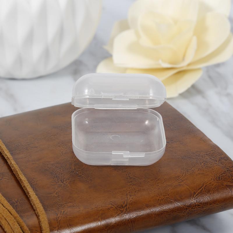 Caja de almacenamiento de auriculares Mini caja de almacenamiento de plástico caja de tarjeta SD caja transparente portátil Mini caja SD tarjeta tapones para los oídos caja de transporte