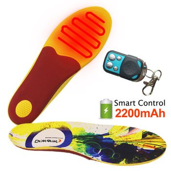 2200mAh Electric Heating Insoles EVA Material Rechargeable With Remote Control Winter Warm Heated Arch Support Insoles