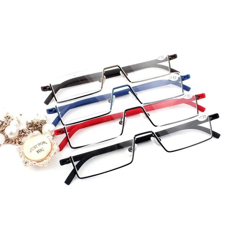 AliExpress - Fashion Simplicity Comfy Light Half Frame Reading Glasses TR90 Resin Presbyopic Glasses Unisex For Women Men+100 to +400