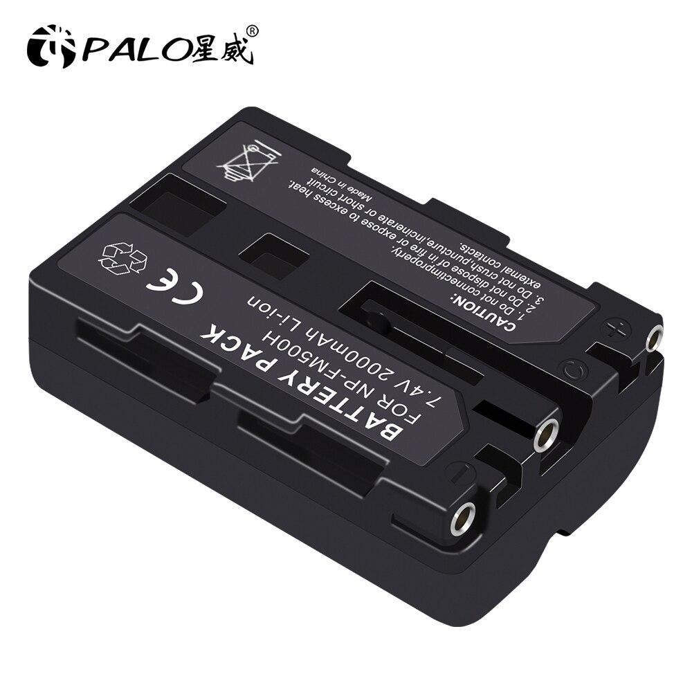 PALO NP-FM500H FM500H 500H bateria 2000mah 7.4v li-ion np-fm500h np bateria da câmera para sony a200 a200w a550 a450 a500 a700