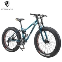 foreknow 26 inch wheel adult mountain fat bike 30speed variable speed bicycle beach snowmobile men racing ride road off road mtb