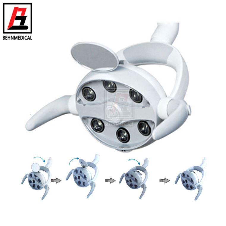 Teeth Led Lamp Direct Series Light/6 Bulb Chair Oral Surgery Light For Sale Innovating Shadowless