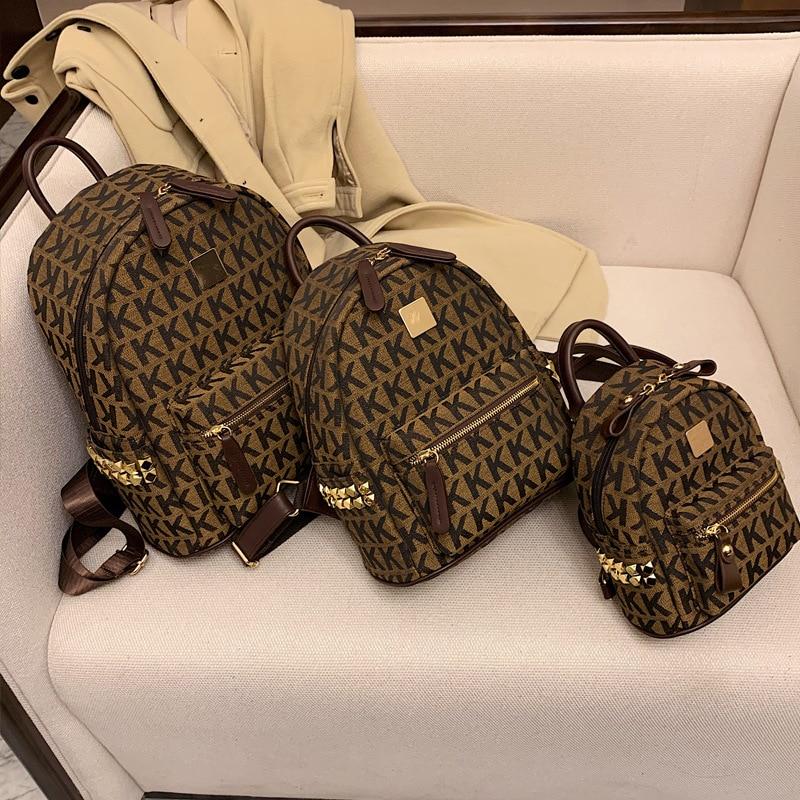 2021 New Fashion Luxury Ladies Backpack Designer Series Classic High Quality Shoulder Bag Trend Small Backpack Women's Handbag luxury brand monogram backpack bag women classic fashion designer mini bag high quality real leather cute small backpack 15cm