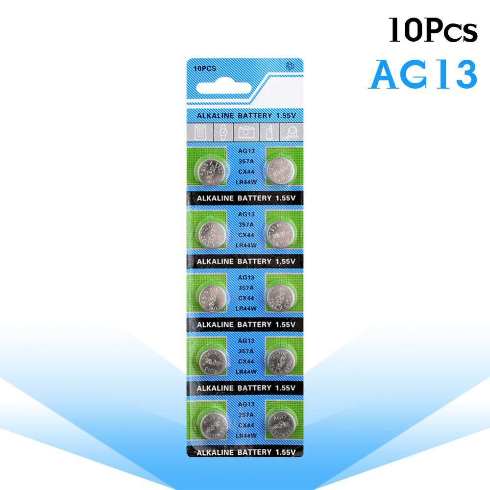 10 unids/pack AG13 1,5 V LR44 L1154 RW82 RW42 SR1154 SP76 A76...