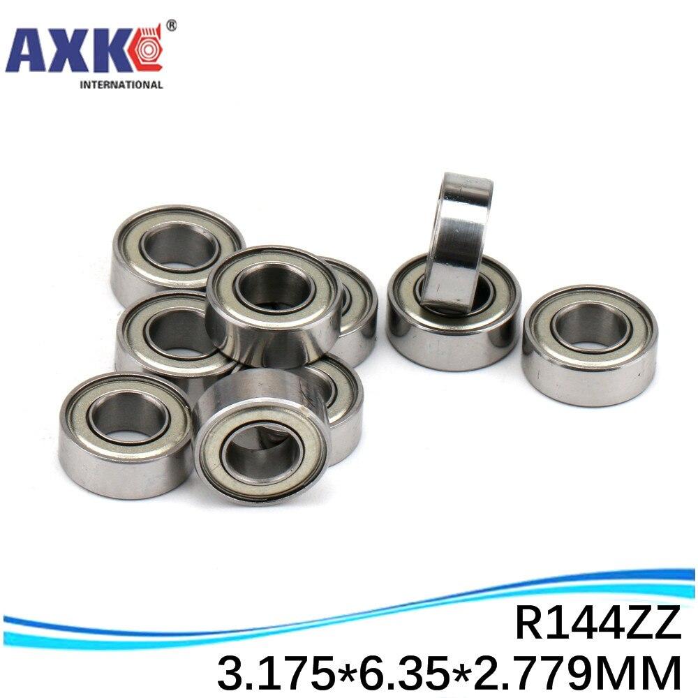 """R144 R144ZZ SR144ZZ R144-2Z R144Z ZZ RS RZ 2RZ rodamientos de bolas de ranura profunda 3.175x6,35x2,78mm 1/8 """"x 1/4"""" x 7/64 """"de alta calidad"""