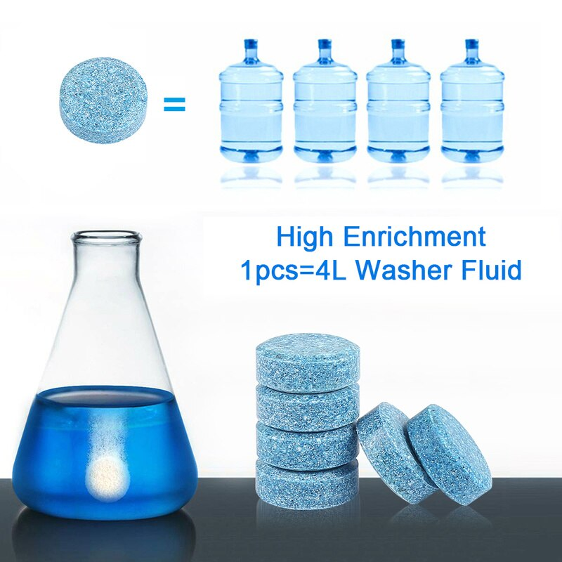 100Pcs/Set Multifunctional Effervescent Tablets Spray Cleaner for Car Windshield Kitchen Bathroom Glass Cleaning DropShipping enlarge