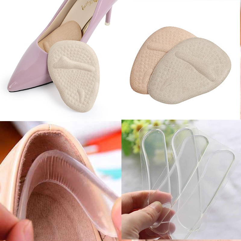 1/2 пары Противоскользящих гелевых подушек, силиконовые стельки для обуви, стельки для стопы, защита пятки, Нескользящие подушечки, стельки для обуви