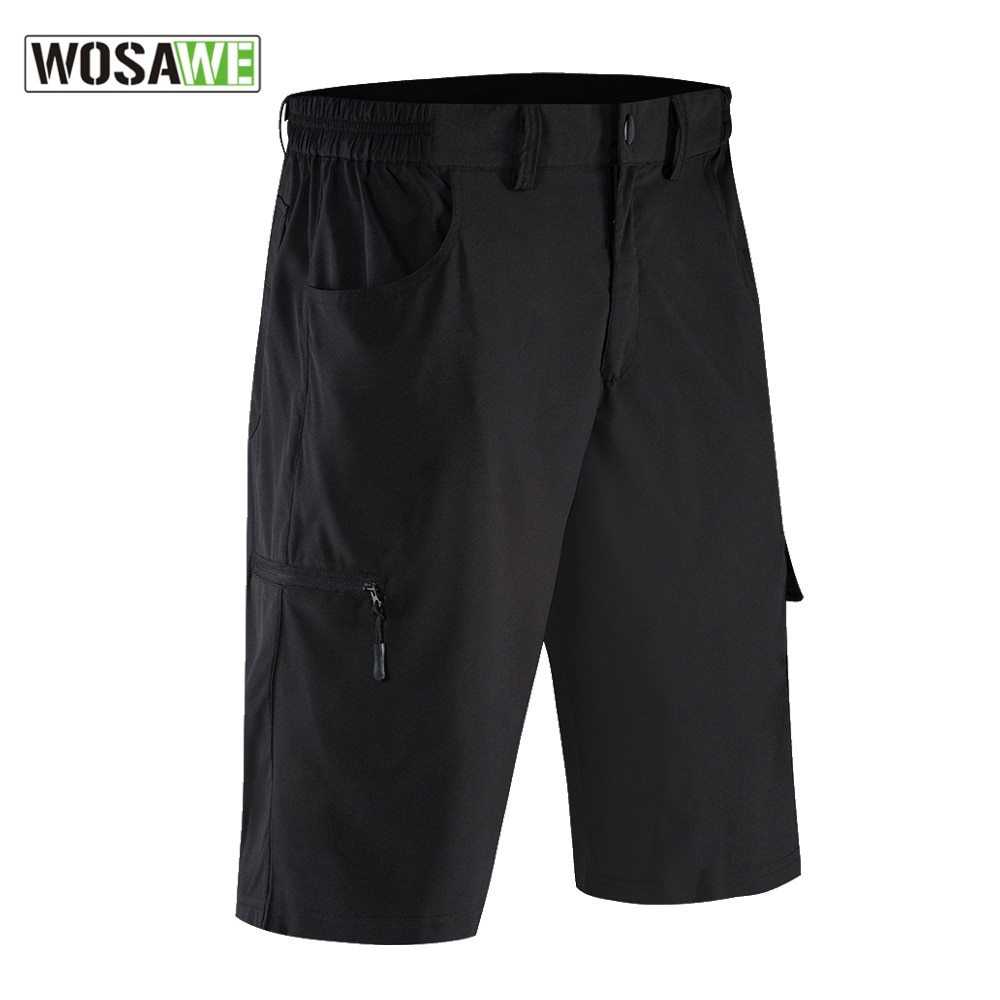 WOSAWE Summer Men's Motorcyle Shorts Loose-Fit Breathable Reflective Outdoor MTB Riding Mountain Bike Bicycle Downhill Shorts enlarge