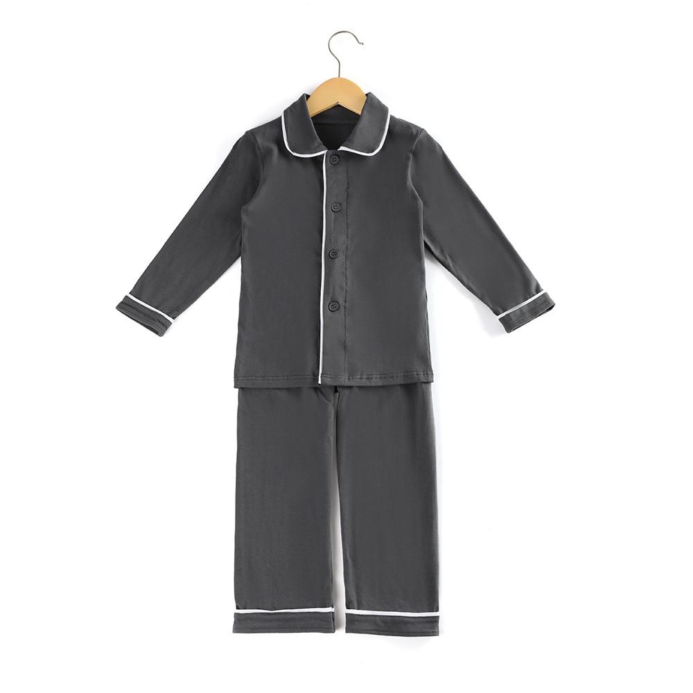 Christmas cardigan pajamas girls' pajamas, children's clothes, home clothes, solid color and comfortable boys' pajamas set enlarge