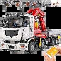 mould king 19002 new moc 8800 app motorized pneumatic crane truck building blocks assembly car model kids christmas gift