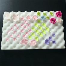 2 Pcs Vogvigo Cake Fondant Suiker Bloem Spons Matten Tool Mold Mat Vormgeven Spons Pad Plakken Mold Bakvormen Tool Foam drogen Pads