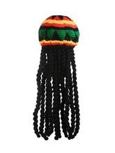 Männer Neuheit Jamaika Gestrickte Kappe Perücke Geflecht Hut Bob Marley Rasta Beanie Weibliche Jamaican Multicolor Headwear Quaste Haar Hut