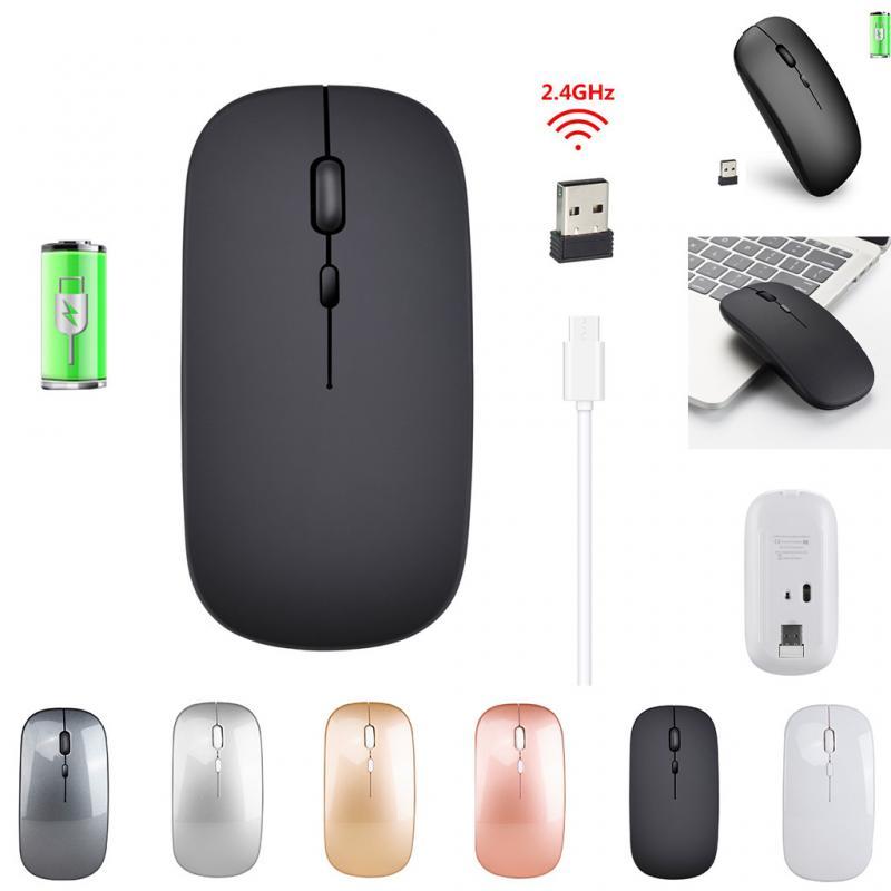 Беспроводная мышь, совместимая с Bluetooth, перезаряжаемая мышь, беспроводная компьютерная Бесшумная мышь, эргономичная мини-мышь, оптические ...
