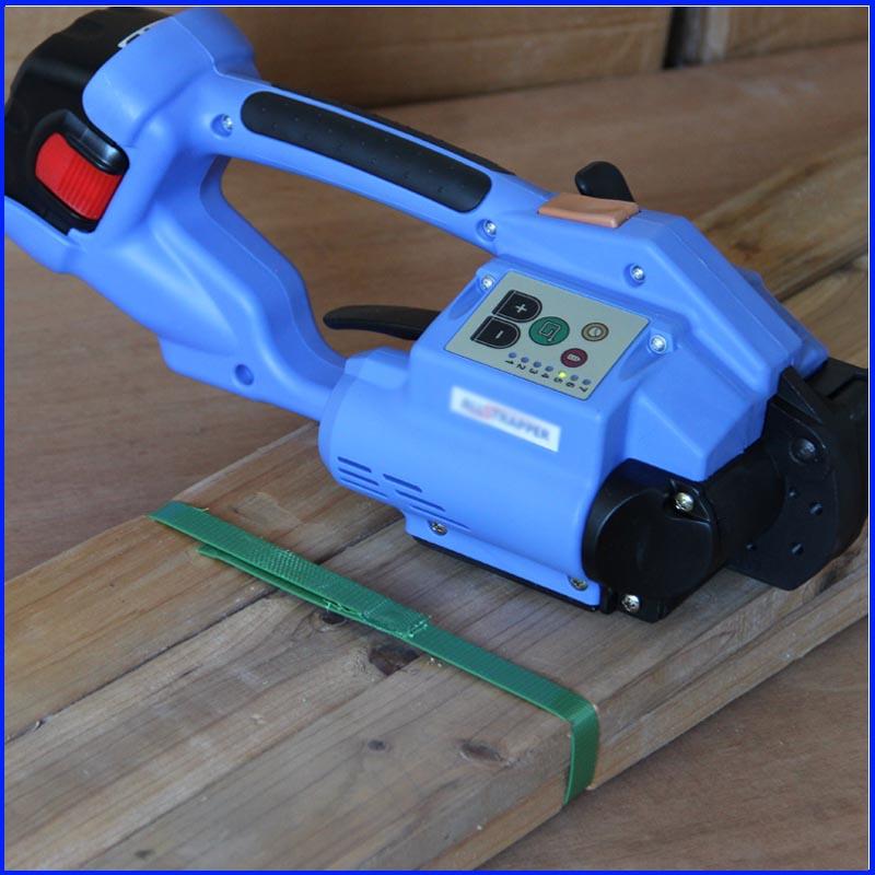 DD160 المحمولة بطارية تعمل PP و PET اليد أداة الربط الشخص القوي ، دليل الكهربائية البلاستيك آلة الربط ل 12-16 مللي متر