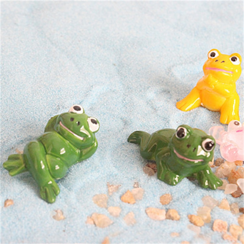 Cartoon Lovely Frog Micro-Landscape Landscape Bicolor Small Frog Decoration Doll DIY Material Accessories