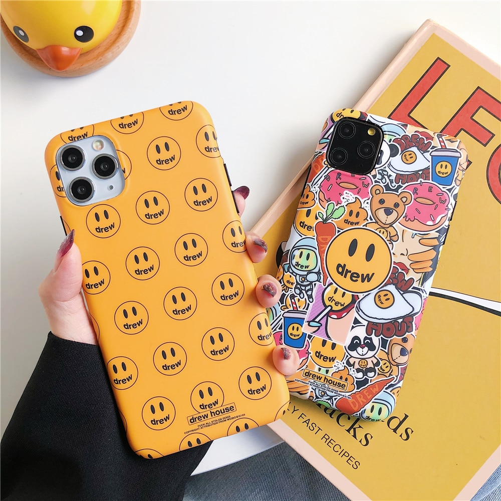 Lujo Corea ins artista G dragón propio pintura al óleo etiqueta teléfono funda para iPhone 7 8 plus 11 Pro X XS MAX XR claro suave TPU cubierta