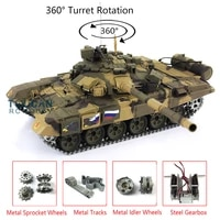 heng long outdoor toys 116 7 0 upgraded metal russia t90 rtr rc tank 3938 w 360%c2%b0 turret th17847 smt4