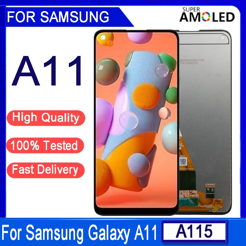6.4'' Original A11 LCD For Samsung Galaxy A11 A115 A115F A115F/DS LCD Display Touch Screen Digitizer