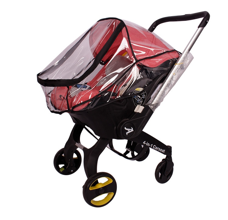 Car Seat Rain Cover for Foofoo  Baby Safety Wind Weather Shield Dust Protector Newborn Doona Stroller Accessories