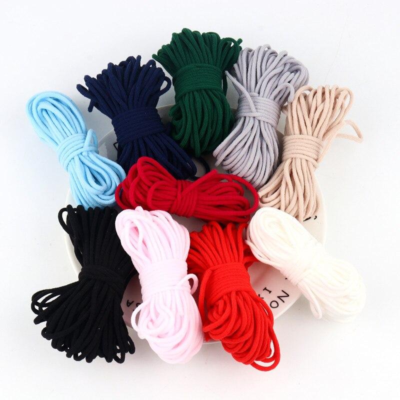 Bunte 3MM Mund Maske Elastische Band Maske Seil Gummiband String Gürtel Maske Ohr Öl Kabel Hängen Seil Für DIY Schutzhülle Handwerk