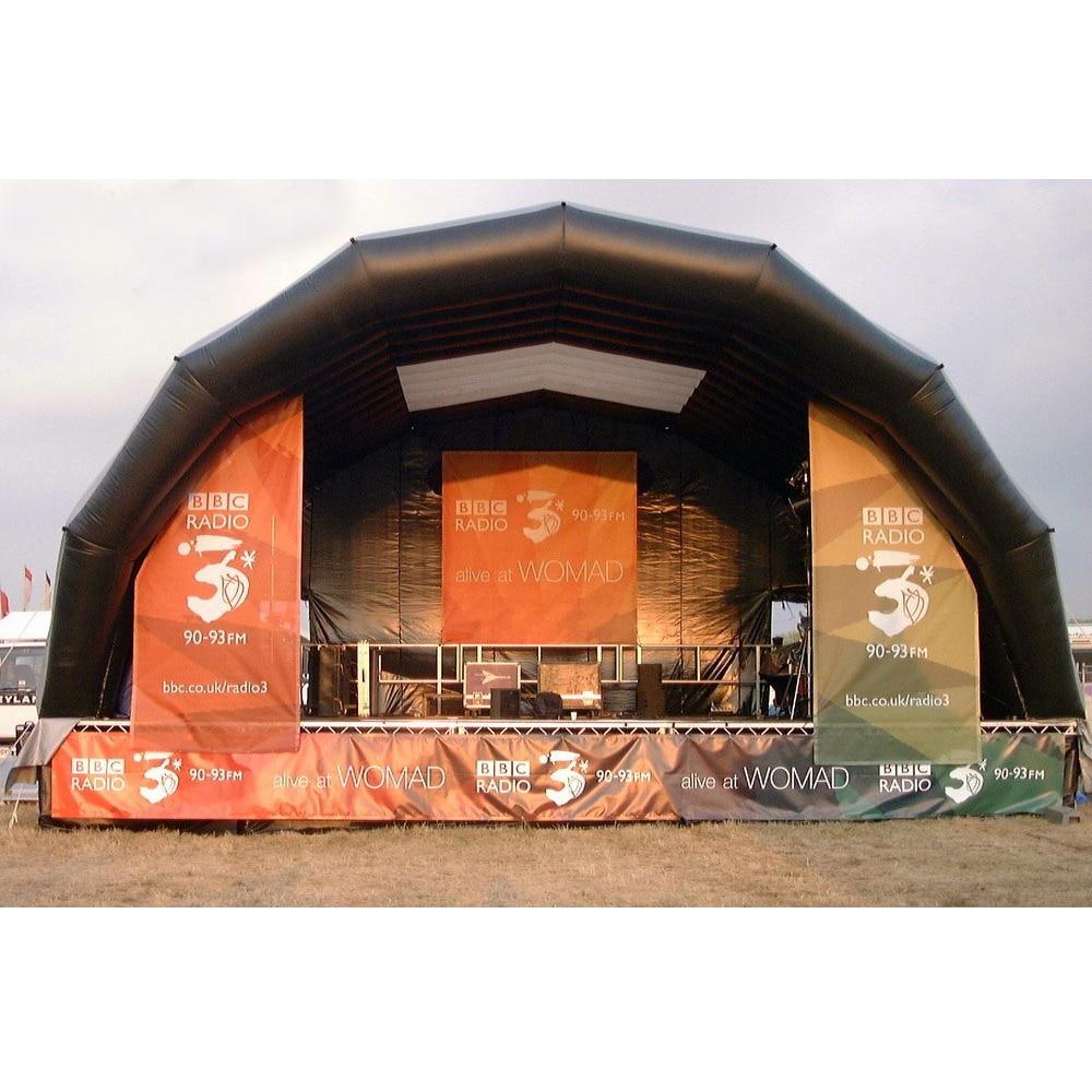 شحن مجاني كبير في الهواء الطلق خيمة قابلة للنفخ نفخ المرحلة غطاء سرادق للحزب ، المعرض ، الترويج ، musicparty
