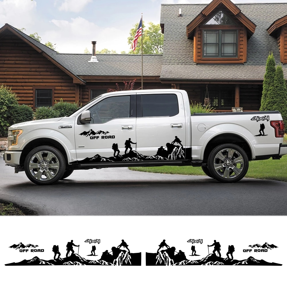 Cola del coche decoración pegatinas recoger para Ford Ranger Ford Raptor Pickup...