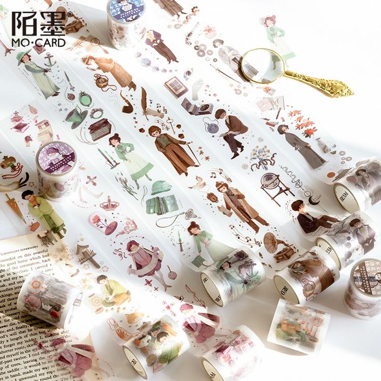 Agatha Series PET Washi Tape Decorative Masking Tape Japanese Paper Tapes For Diy Arts Crafts Scrapbooks Journaling And Calendar