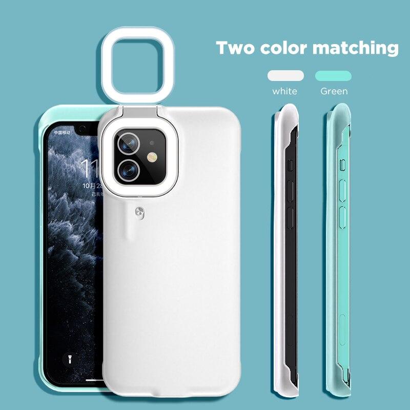 3 Light Vlog Selfie Built-in Battery Fill Light Mobile Phone Cover Case for IPhone 11 12 Pro X Andro