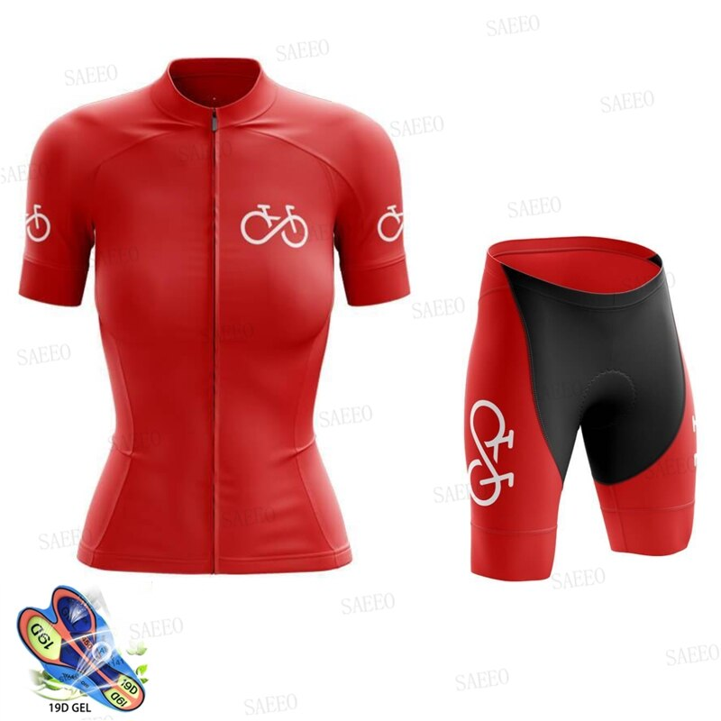 Conjunto de Ropa de Ciclismo de equipo profesional para mujer, Ropa para...