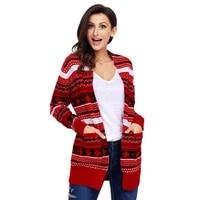 new arrival autumnwinter casual loose fashion womens coat cardigan long sleeved christmas long sweatersu%c3%a9ter feminino