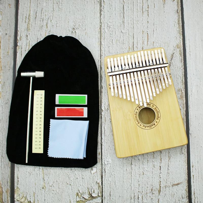 Bamboo Piano 17 Key Finger Kalimba Mbira Sanza Thumb Piano Pocket Size Beginners Keyboard Marimba Wood Musical Instrument enlarge