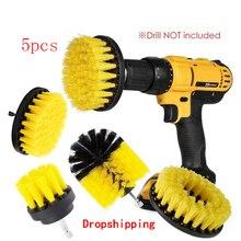 5pcs 3pcs Power Scrubber Brush Set for Bathroom Drill Brushes Cordless Attachment Kit Power Toilet Brush Electric Cleaning Brush