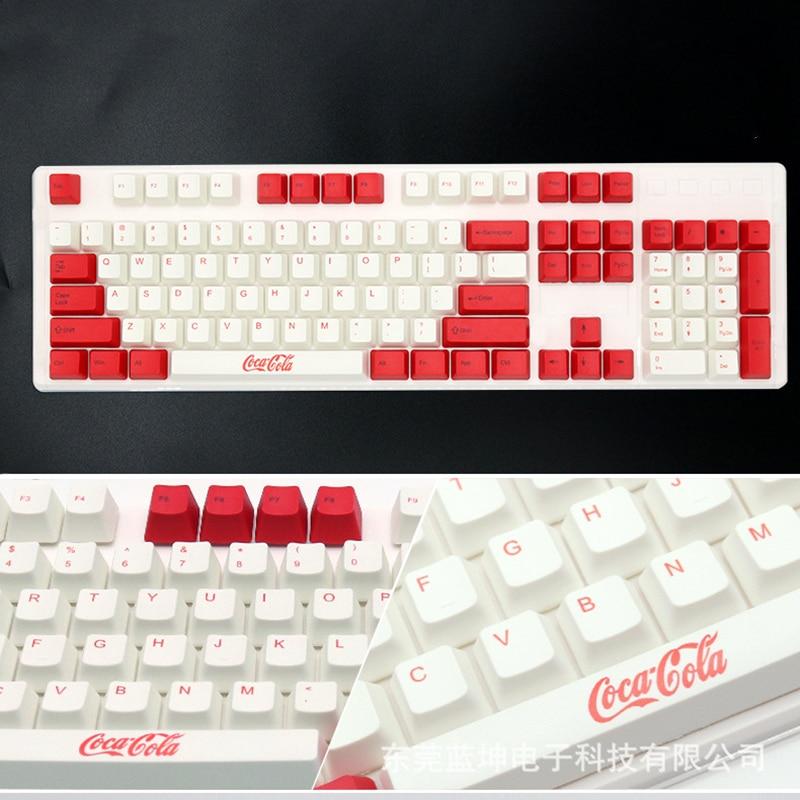 Eagiacme-أغطية لوحة مفاتيح PBT ، 104 قطعة ، للوحة مفاتيح الألعاب الميكانيكية Cherry/IKBC/Filco ، صبغ التسامي ، ارتفاع OEM