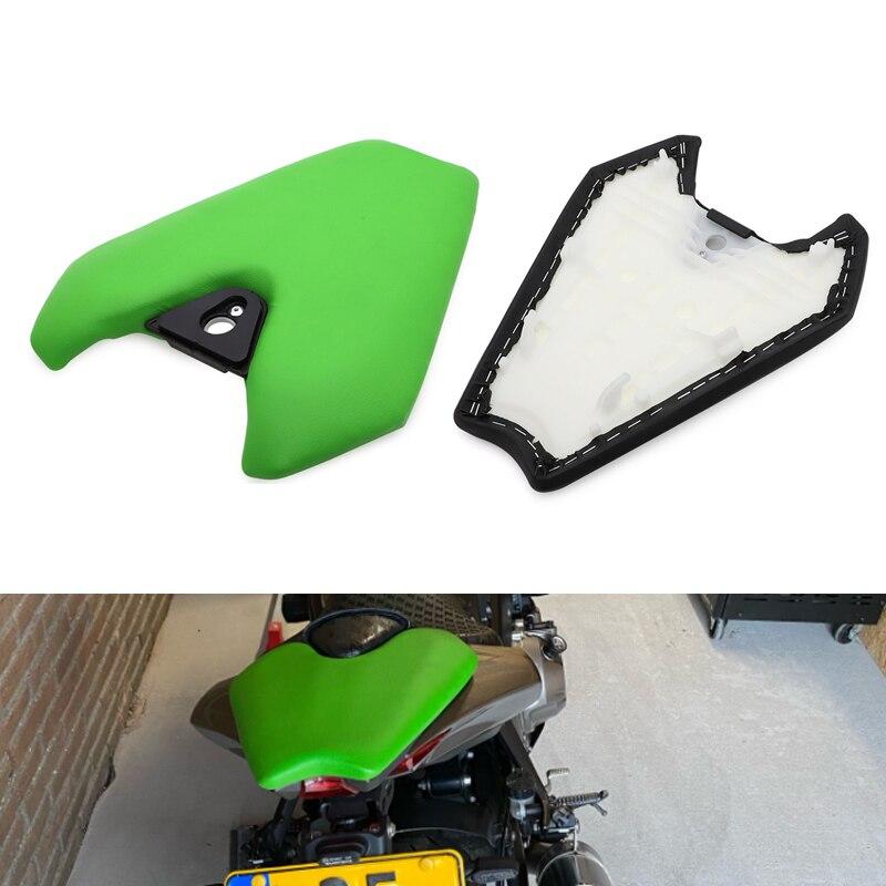 قطع غيار للدراجات النارية للمقعد الخلفي للركاب من الجلد Kawasaki Z1000 طراز Pillion 2014 2015 2016 2017 2018 2019 باللون الأسود والأخضر