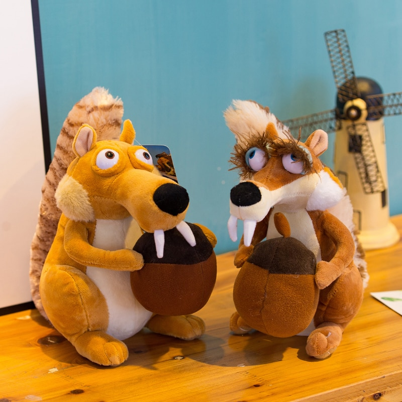 Funny Cute Animal Doll Ice Age 3 SCRAT Squirrel Stuffed Kids Plush Toy Decorations Birthday Gift Ant