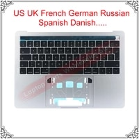 new a1706 top case for macbook pro retina 13 3 palmrest topcase us uk russian germany spanish france keyboard with touchbar