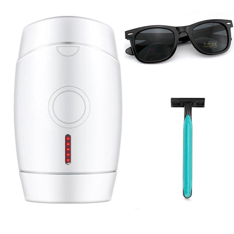 Depiladora láser IPL, utensilio para eliminar el vello facial, depiladora indolora, máquina de roscado láser, dispositivo de depilación de piernas