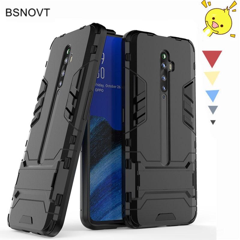 For OPPO Reno2 F Case Phone Holder Hard PC Heavy Armor Shell Anti-konck Case For OPPO Reno 2F Case For OPPO Reno2 F 2F 2 2Z Case
