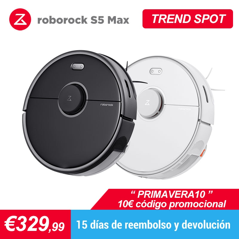 Roborock S5 Max Robot Vacuum Cleaner Automatic Smart Planned Sweeping Dust Sterilize Washing Mop mihome APP WIFI
